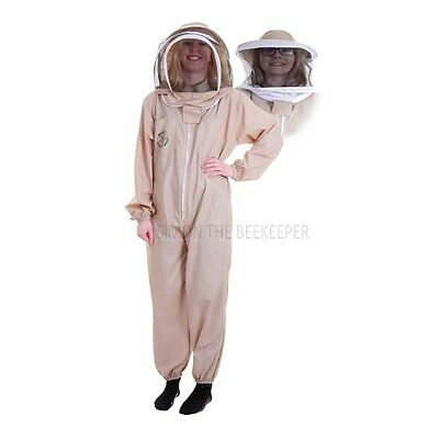 Buzz Basic Beekeeping Suit With Fencing Veil, Spare Round Veil And Gloves -Khaki 2