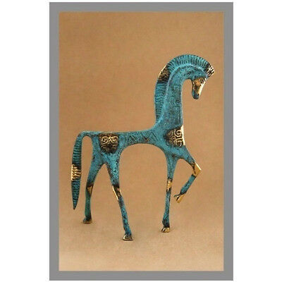 Ancient Greek Bronze Museum Statue Replica Geometric Era Horse Collectable 121 8