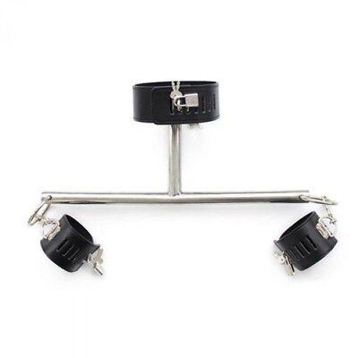 00904251 Barra Costrittiva T in Metallo con Manette per Polsi e Collare Postura 2