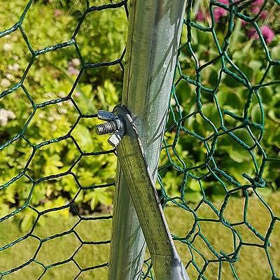 Chicken Run 2M X 3M Walk In Coop For Poultry Dog Rabbit Hen Cage Pen Metal Door