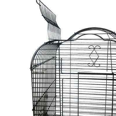Pet Bird Cage Parrot Aviary Canary Budgie Finch Perch Black Portable w/ Perches 5