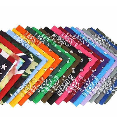 55*55cm Square Paisley Scarf Bandana Cotton Head Wrap Wristband Handkerchief 3