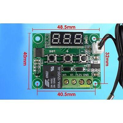 Termostato Termómetro Sonda Regulador Control Temperatura Interruptor 12v 5