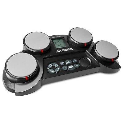 Alesis CompactKit 4 Beginner Tabletop Electronic Drum Kit 4-Pad inc Sticks 5
