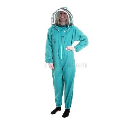 BUZZ BASIC Beekeepers Beekeeping Suit with Fencing Veil and Round Veil - Green 4