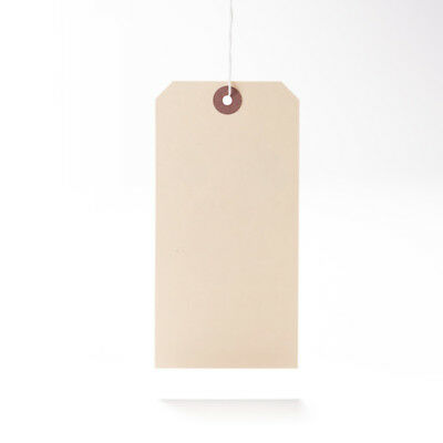 Luggage Tags Hardware Labels Manila Brown White Large Strung Tags various sizes 2