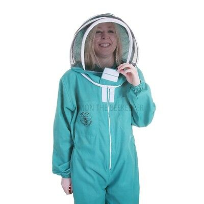 BUZZ BASIC Beekeepers Beekeeping Suit with Fencing Veil and Round Veil - Green