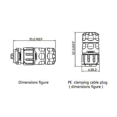 CNLINKO 4 Pin Power Industrial Connector Male Plug Waterproof IP67 Signal AC/DC
