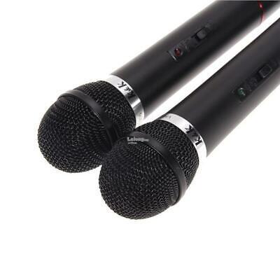 Coppia Microfoni Wireless Centralina Senza Filo Karaoke Dj Pub Locale Discoteca 3