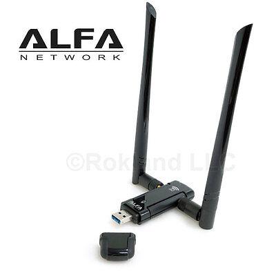ALFA AWUS036AC 802 11AC 867 Mbps Long Range WiFi USB Adapter DUAL BAND  2 4/5 GHz