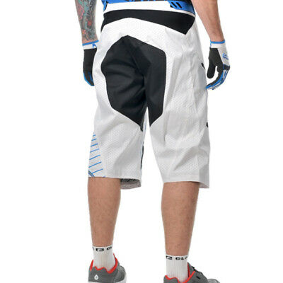 White Blue 34 36 38 Fox Giant Demo DH MTB Baggy Cycling Shorts