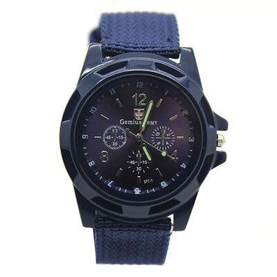 Men's Watch Wristwatch Sport Military Analog Army Quartz Canvas Strap Mens Gift 3