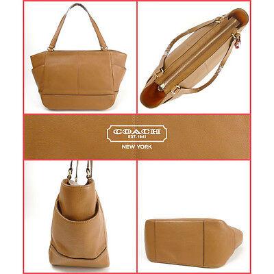 bc7ae4a4c7e1 ... NWT COACH F23284 Tote Bag Smooth Park Leather Carryall British Tan  Handbag Purse 4