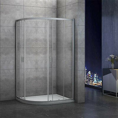 1000x800mm Quadrant Shower Enclosure and Stone Tray Corner Cubical Glass Left 5