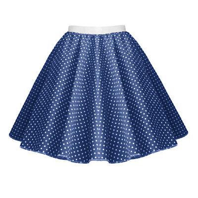 GIRLS CHILD 1950s Rock n Roll Polka Dot Dance Skirt Fancy Dress GREASE Costume 8