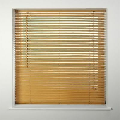 Window Blinds Easy fit PVC Venetian Blinds Wood Effect Trimable Home Office New 4