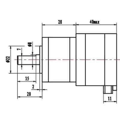 Nema 17 Geared Stepper Motor 5.18:1 1.8deg 0.8A 120mN.m Nema17 Extruder 4