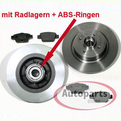 Citroen C3 III Bremsscheiben Bremsen ABS Ringe Radlager Bremsbeläge für hinten