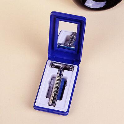 Men's Traditional Classic Double Edge Chrome Shaving Safety Razor + 5 Blades 3