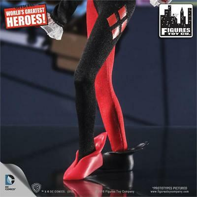 AMANDA CONNER DC COMICS Harley Quinn 8-in Rétro Mego Kresge carte signé