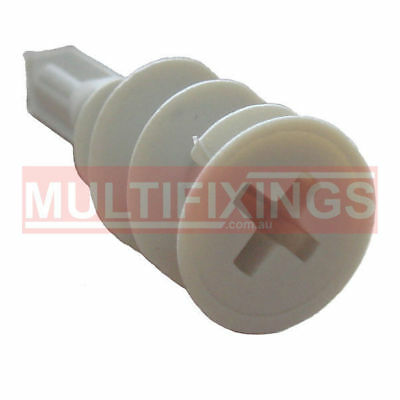 200pcs - 14mm x 32mm NYLON HOLLOW WALL ANCHOR PLASTERBOARD FIXINGS