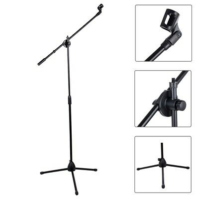 Professional Boom Microphone Mic Stand Holder Adjustable With 2 Free Clips New 6
