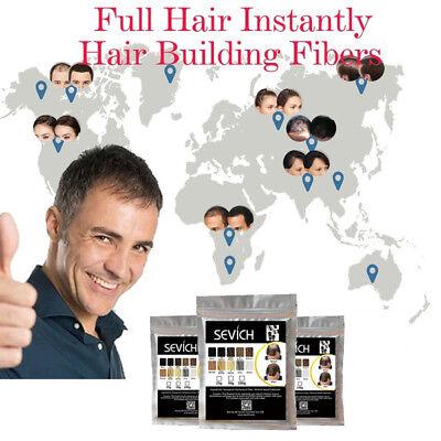 Sevich Refill Hair Fibers 100% Natural Keratin Bulk Bag 100g FREE Shipping 10
