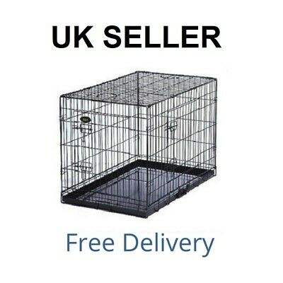 Dog Cage Puppy Training Crate Pet Carrier - Small Medium Large Xl Xxl Cages 3