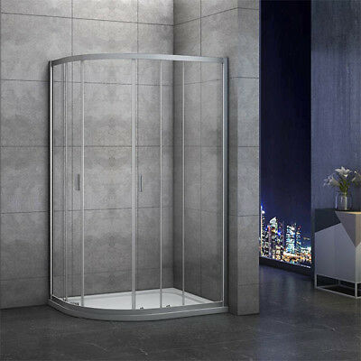 1000x800mm Quadrant Shower Enclosure and Stone Tray Corner Cubical Glass Left 4