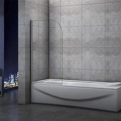 Pivot Chrome Bath Shower Screen Easyclean Glass Door panel 800x1400mm Aica 180