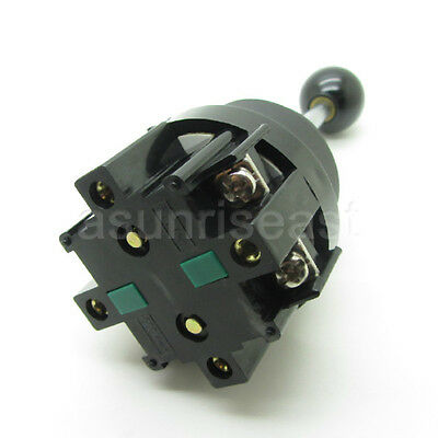 Momentary 2 Position Joy Stick Wobble Switch Two Direction Monolever DPST NO 3