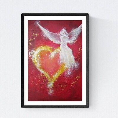 """Engel Bild Kunstfoto /""""Vom Licht berührt/"""" Engelbilder Foto Sonnenuntergang Sonne"""
