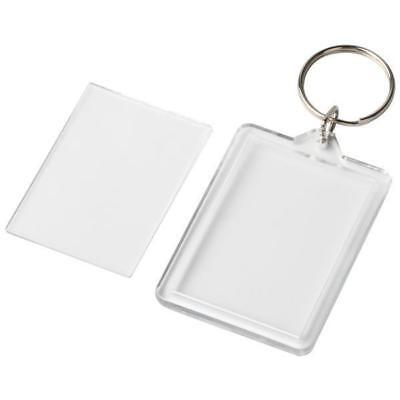 Transparent Blank Insert Photo Picture Frame Key Ring Insert Size 45 mm x 32mm. 2