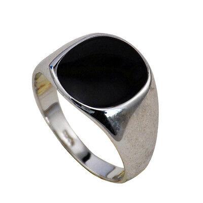 Gold plattiert//emailliert Siegel Ring Zirkonia Herren Ring HX10057