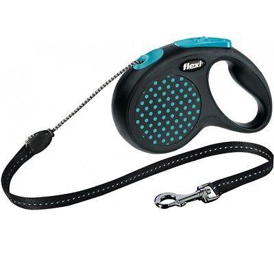 Flexi Reflective Retractable Design Dog Lead Tape / Cord 8-50KGS Extending Leash 9