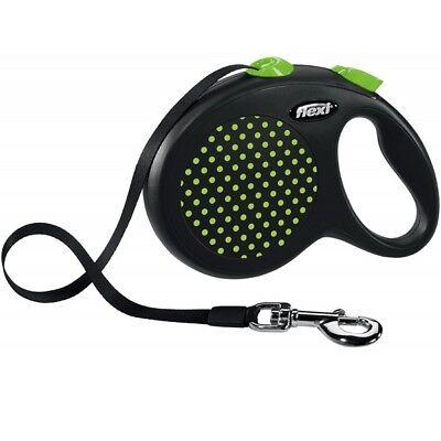 Flexi Reflective Retractable Design Dog Lead Tape / Cord 8-50KGS Extending Leash 4