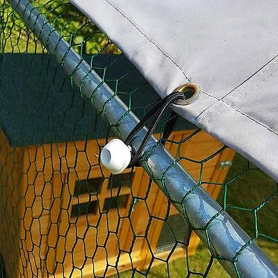 Chicken Run 2M X 3M Walk In Pet Cage Coop For Dog Rabbit Hen Cage Pen Metal Door 3