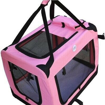 HugglePets Fabric Dog Crate Puppy Carrier - Cat Travel Cage Carry Pet Bag 4 Size 7