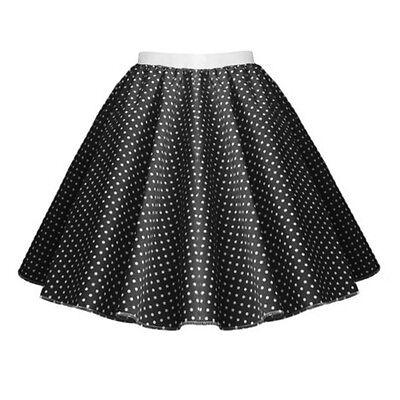 GIRLS CHILD 1950s Rock n Roll Polka Dot Dance Skirt Fancy Dress GREASE Costume 10