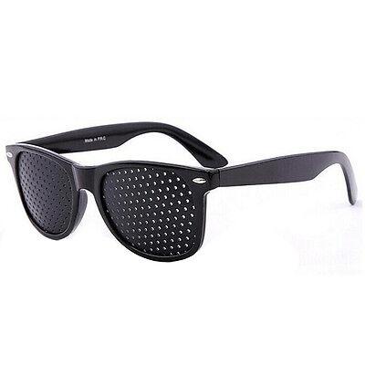 Fashion Vision Care Glasses Eyesight Improver Glasses Pinhole Glasses Black 2