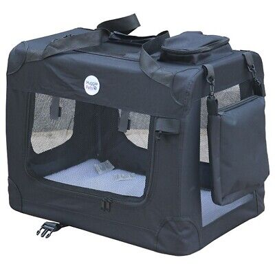 HugglePets Fabric Dog Crate Puppy Carrier - Cat Travel Cage Carry Pet Bag 4 Size 10