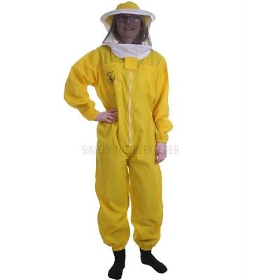 "BUZZ BASIC Yellow Beekeeping Suit with Fencing Veil and Round Veil *All Sizes"" 2"