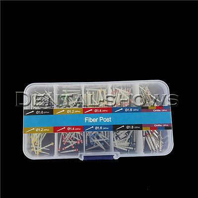 160 PCS Dental Glass Fiber Post Single Refilled Package & Free For 32 PCS Drills 4