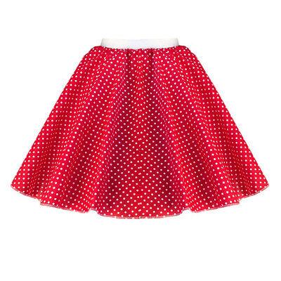 GIRLS CHILD 1950s Rock n Roll Polka Dot Dance Skirt Fancy Dress GREASE Costume 4