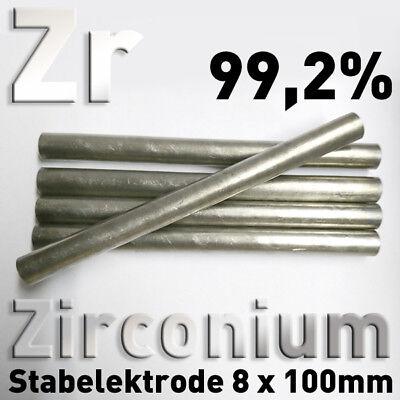 Refraktärmetalle Rund Stab 8 x 100 mm Element Probe Anode Elektrode 9