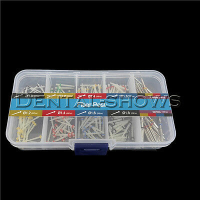 160 PCS Dental Glass Fiber Post Single Refilled Package & Free For 32 PCS Drills 3
