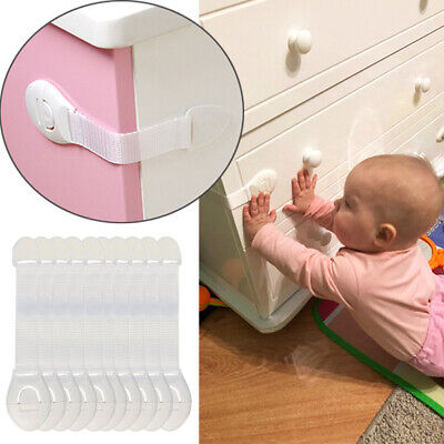 10pcs Baby Safety Protection Lock Kids Baby Anti-Clip Door Fridge Drawer Latches 2