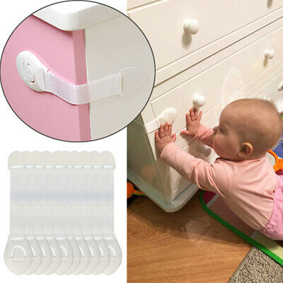 10pcs Child Kids Baby Safety Cabinet Drawer Locks Pet Proof Door Fridge Cupboard 2