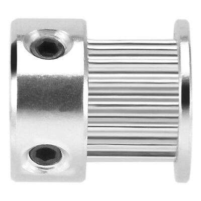 5pcs Aluminium GT2 16 Zaehne 6mm Bohrung Zahnriemenscheibe Flansch SynchronF3M7