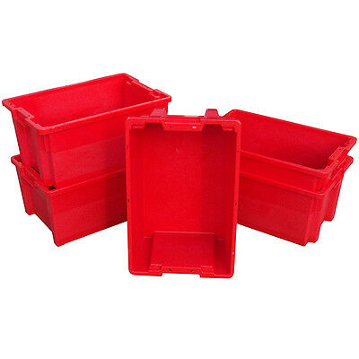 5 x 180º Plastic Stacking and Nesting Containers 50 Litre - Coloured 4
